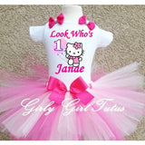 Hello Kitty Birthday Outfit Pink Custom Add Name