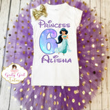 Jasmine Princess Birthday Tutu Outfit Set - Princess Jasmine birthday Outfit