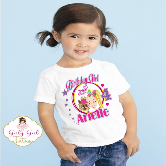 Jojo and Bowbow birthday T shirt - Jojo Siwa Birthday T Shirt Custom