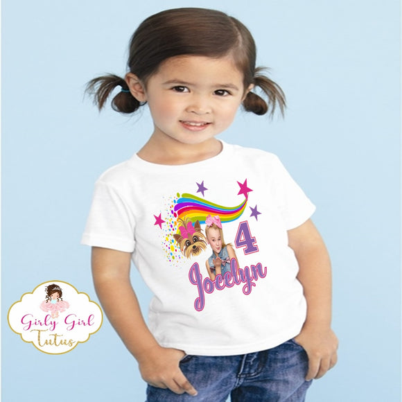 Jojo Siwa and BowBow Birthday T shirt - Add Name