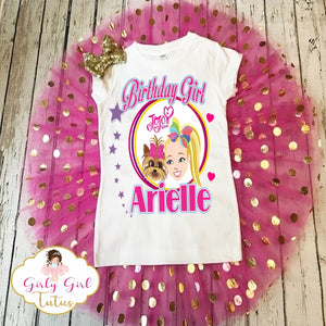 Jojo Siwa and BowBow birthday Tutu Outfit Set for Girls