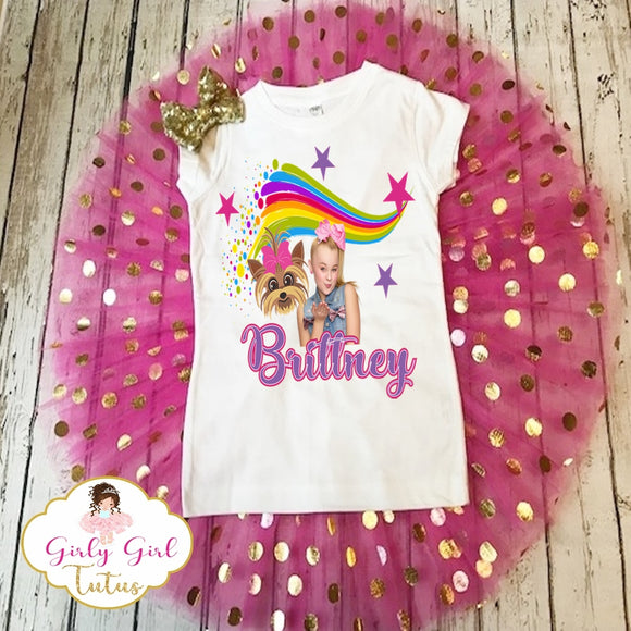 Jojo Siwa and BowBow Birthday Tutu Set for Toddler girls