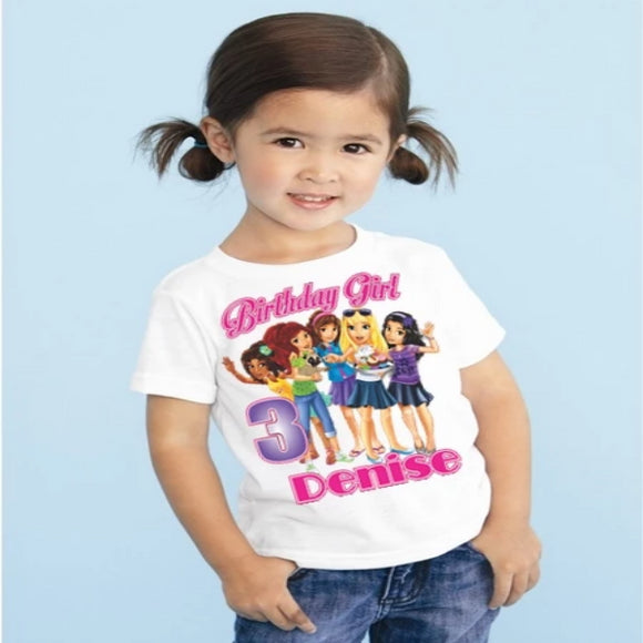 Legoland Friends Personalized Birthday T Shirt