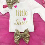 Little Sister Baby Take Home from Hospital Outfit - Girly girl Tutus