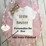 Little Sister Baby Girl Take Home Set - Girly Girl Tutus