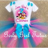 Mickey Mouse Girl Birthday Tutu Outfit Set