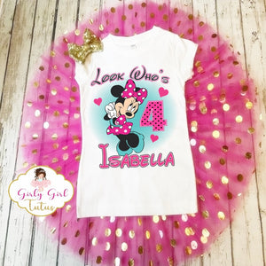Minnie Mouse Personalized Tutu Set - Minnie Mouse Birthday Tutus