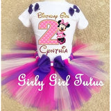 Minnie Mouse Personalized Girls Tutu Set Birthday Outfit
