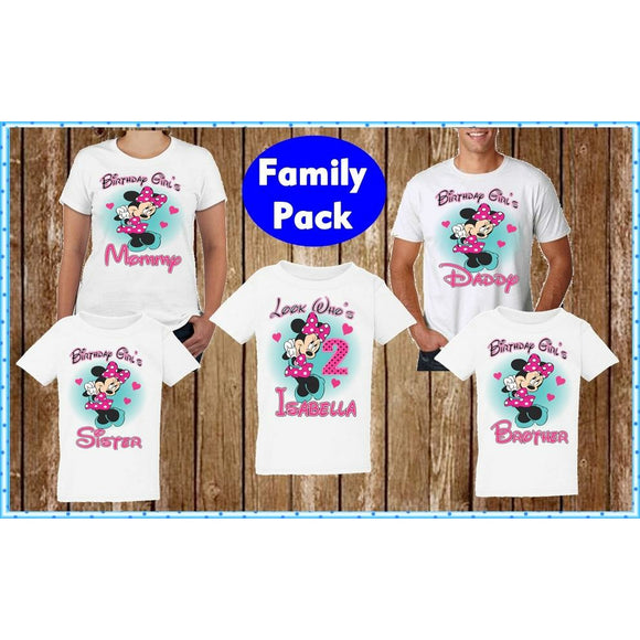 Minnie Mousse Family Birthday Shirts - Mommy of the Birthday Girl