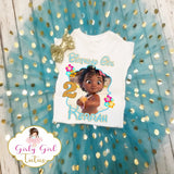 Baby Moana Birthday Tutu Set - Moana Birthday Shirt with Tutu