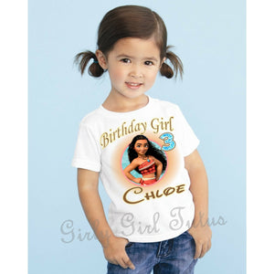 Moana Girls Personalized Birthday Shirt