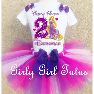 Rapunzel Girls Birthday Tutu Outfit Set