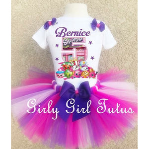 Shopkins Mulicolor Girl Birthday Tutu Outfit Set Party Dress