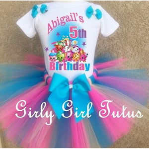 Shopkins Girl Personalized Birthday Outfit Tutu Set