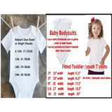 girls birthday shirt size chart