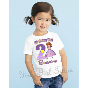 Sofia the first Personalized Birthday T Shirt
