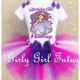 Sofia the First Girl Birthday Outfit Tutu Set