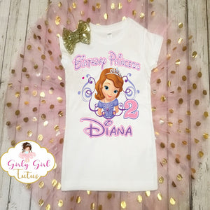 Sofia the 1st Personalized Pink Birthday tutu Outfit Dress Set