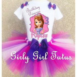 Sofia the 1st Girl Personalized Birthday Outfit Tutu