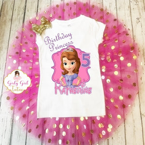 Sofia the 1st Birthday Tutu Outfit Party Dress Set