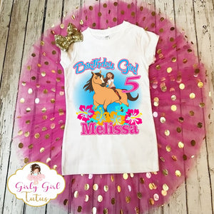 Spirit Riding Free Birthday Tutu Dress Set for Girls