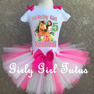 Spirit Free Riding Birthday Tutu Outfit - Spirit Free Riding T Shirt