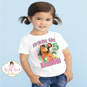 Spirit Riding Free Birthday Shirt for Girls - Spirit Riding Free Party