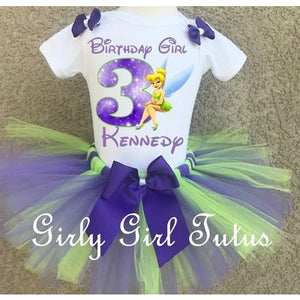 Tinkerbell Personalized Birthday Tutu Outfit Set