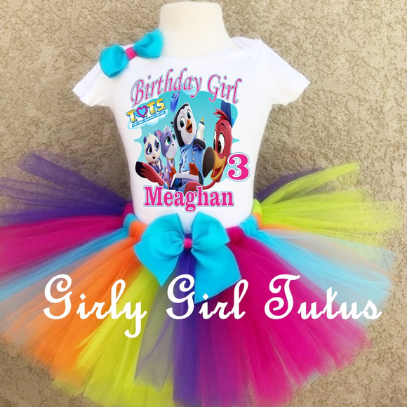Tots Birthday Tutu Outfit set for toddler girl