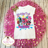 Trolls World Tour Birthday Tutu Set for Girls- Trolls World Tour Birthday Shirt