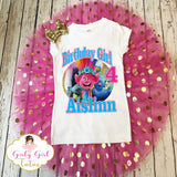 Trolls Birthday Tutu Set for Girls - Trolls World Tour Birthday T Shirt