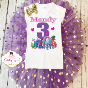 Trolls Personalized Birthday Tutu Outfit Party Dress set