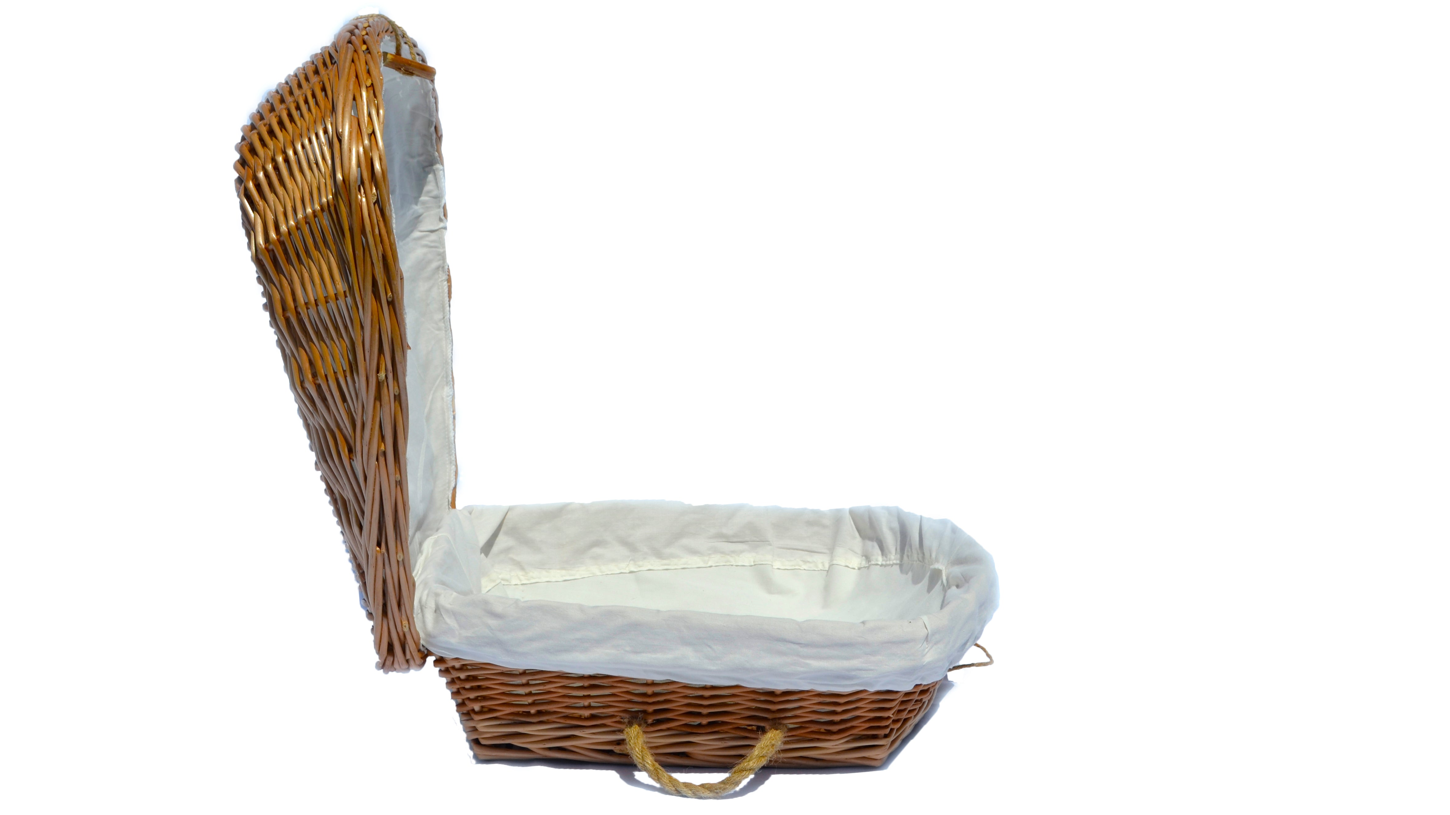 Hand Woven Pet Burial casket | Biodegradable and Eco Friendly Wicker Pet Coffin