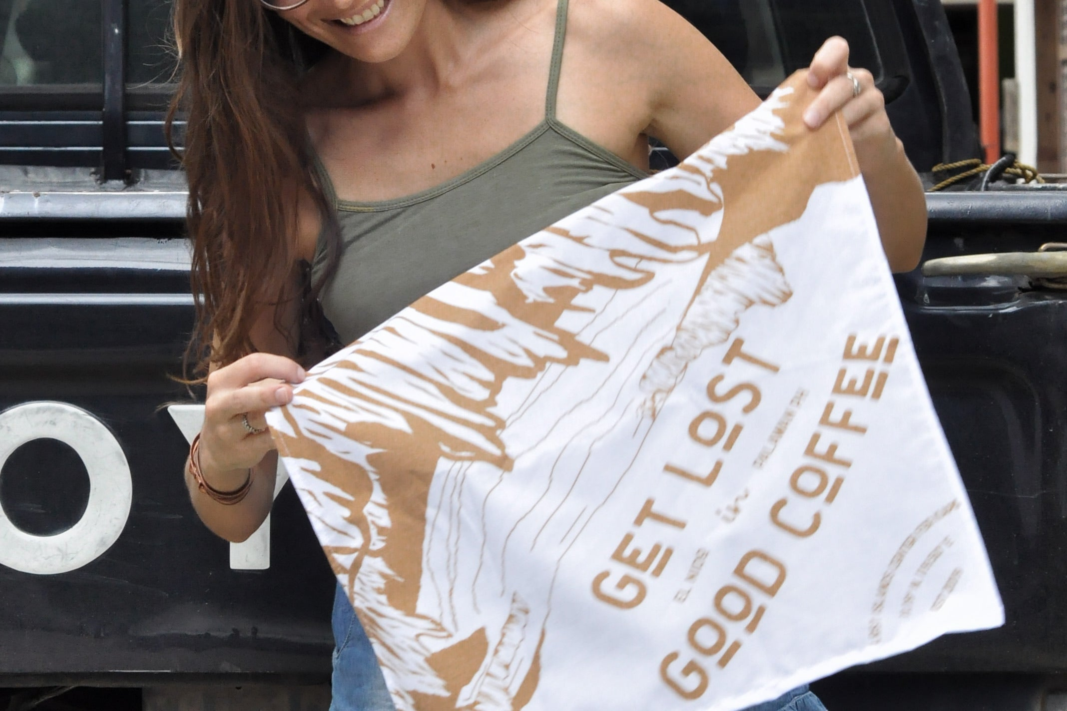 Get Lost in Good Coffee Bandana