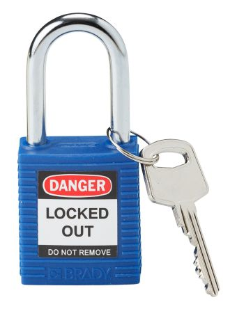 38mm Safety Padlock - Blue Keyed Alike 71/40 - 1 Padlock Per Pack