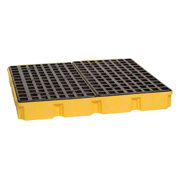 4 Drum Modular Spill Platform Unit - Yellow with No Drain