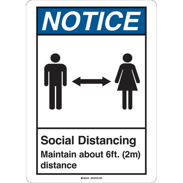 Floor Sign - Social Distancing Maintain About 2m Distance Sign