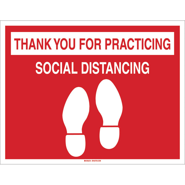 Floor Sign - Thank you for practising social distance