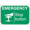 Machine Safety Labels - EMERGENCY Stop button