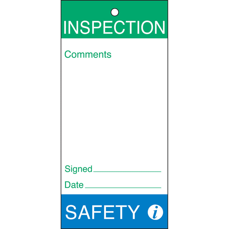 Maintenance and Quality Tags - INSPECTION