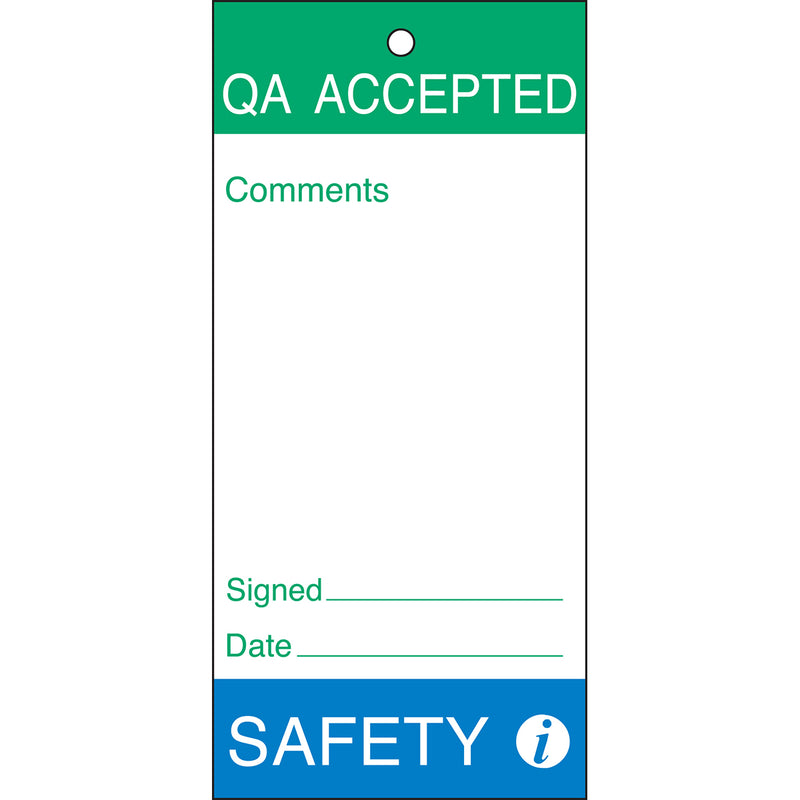 Maintenance & Quality Tags - QA ACCEPTED
