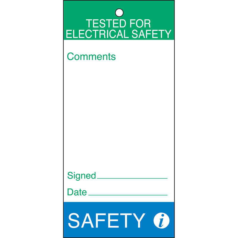 Maintenance and Quality Tags - TESTED FOR ELECTRICAL SAFETY