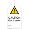 Brady Safety Tags - CAUTION Out of Order