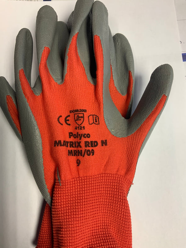 Polyco Matrix Red Gloves