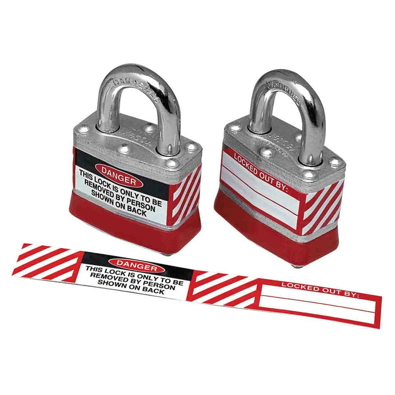 Steel Padlocks Labels