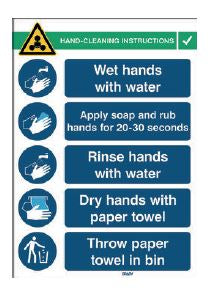 Brady Signs - Hand Wash Instructions