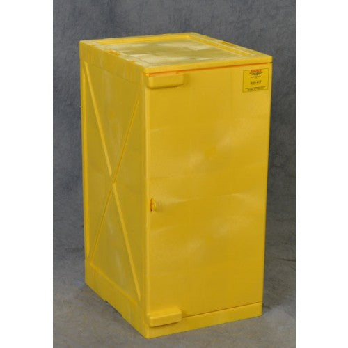 Poly Cabinet Modular 1 Door-2 Shelves - Yellow