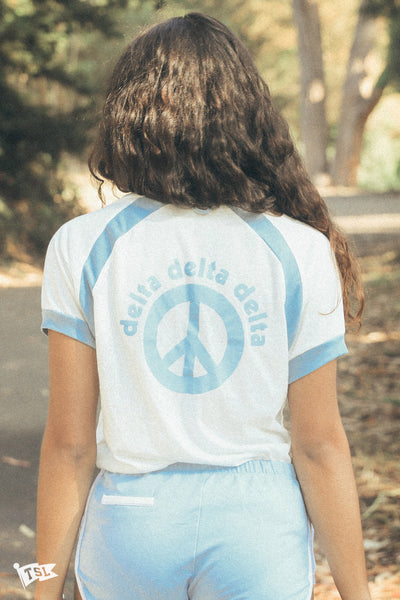 Peace V Neck Raglan