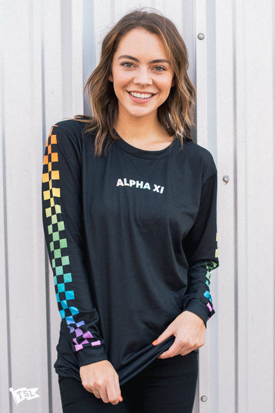 Rainbow Checkered Long Sleeve