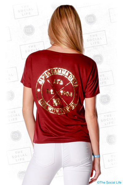 Alpha Gamma Delta Golden Purpose Tee